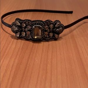 Loft black jeweled headband